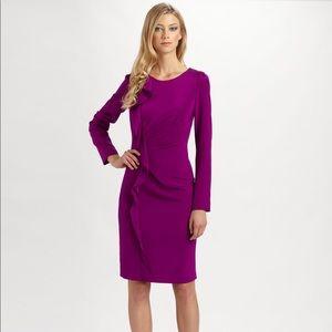 Teri Jon Fuschia Silk Dress